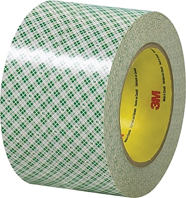 """3M 3"""" x 36 yds. Double Sided Masking Tape 410M, Natural, 3/Pack"""