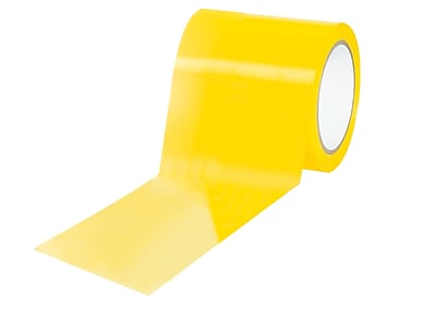 """""""3M 4"""""""" x 36 yds. """"""""Caution/Physical Hazard"""""""" Solid Vinyl Safety Tape, Yellow, 12/Pack"""""""