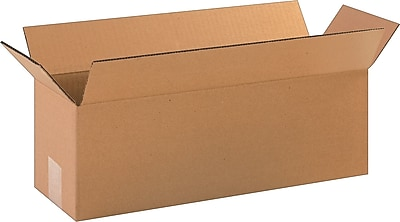 """Abbott Action Cardboard 3.75""""H x 9""""W x 13""""L Corrugated Shipping Boxes, Brown, 25/Pack"""