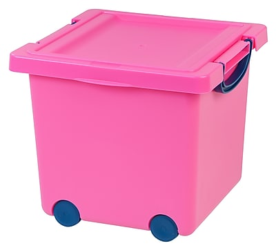 IRIS Toy Storage Box, Pink, 4 Pack (102782)