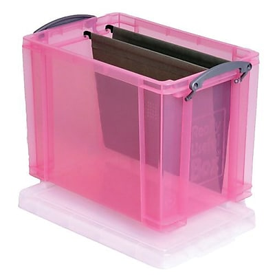 Really Useful 19 L Storage Box, Transparent pink (19TBL)