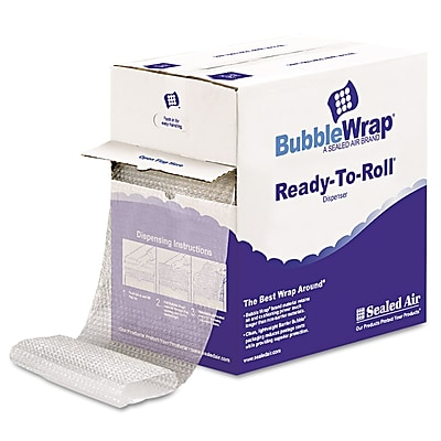"""""""Sealed Air Bubble Wrap Cushioning Material, 0.500"""""""" Thick, 12"""""""" x 65 ft, 65/Carton (1000022501)"""""""