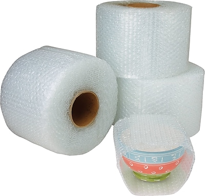 """The Packaging Wholesalers 3/16"""" 48"""" x 300' Slit 12"""" Perfed 12"""" Cohesive Bubble, 4 Rolls/Bundle"""