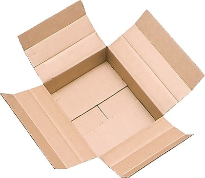 """""""Unicorr Packing Group Cardboard 6""""""""H x 6""""""""W x 12""""""""L Vari-Depth Corrugated Shipping Boxes, Brown, 25/Pack"""""""