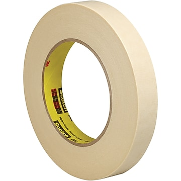 "3M 202 Masking Tape, 5.4 Mil, 3/4"" x 60 yds., Natural, 6/Case (T9342026PK)"