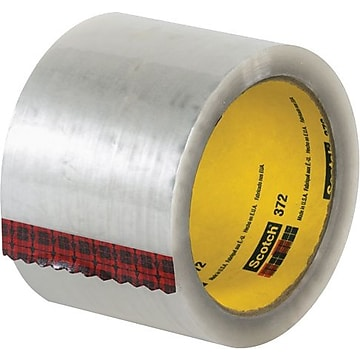 """3M #372 Hot Melt Packaging Tape, 3"""" x 55 yds., Clear, 24/Case"""