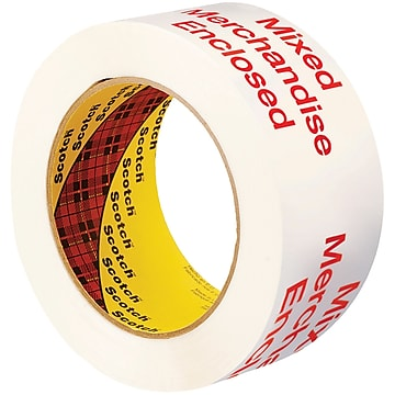 "3M 3775 Printed Message Tape, 1.9 Mil, 2"" x 110 yds., White/Red, 6/Case (T90237756PK)"