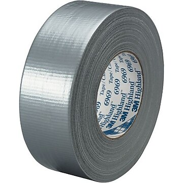 "3M 6969 Duct Tape, 10.7 Mil, 2"" x 60 yds, Silver, 3/Case (T98769693PK)"