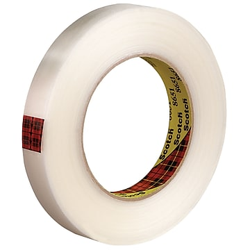 """3M 8651 Strapping Tape, 5.6 Mil, 3/4"""" x 60 yds., Clear, 12/Case (T914865112PK)"""