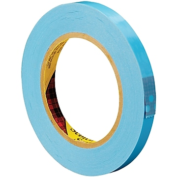 """3M 8896 Strapping Tape, 4.6 Mil, 1/2"""" x 60 yds., Blue, 12/Case (T913889612PK)"""