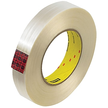 """3M 890MSR Strapping Tape, 8.0 Mil, 1"""" x 60 yds., Clear, 12/Case (T915890M12PK)"""