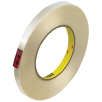 "3M 890MSR Strapping Tape, 8.0 Mil, 1/2"" x 60 yds., Clear, 12/Case (T913890M12PK)"
