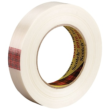 """3M 8916 Strapping Tape, 6.0 Mil, 3/4"""" x 60 yds., Clear, 48/Case (T9148916)"""