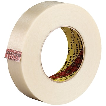 """3M 8919 Strapping Tape, 7.0 Mil, 1"""" x 60 yds., Clear, 12/Case (T915891912PK)"""