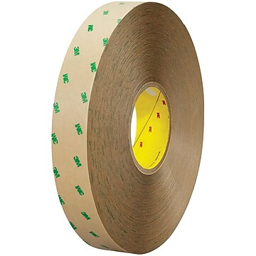 """3M 9505 Adhesive Transfer Tape Hand Rolls, 4.9 Mil, 1"""" x 60 yds., Clear, 6/Case (T96595056PK)"""