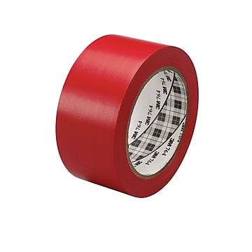 """3M™ 1"""" x 36 yds. General Purpose Solid Vinyl Safety Tape 764, Red, 6/Pack"""