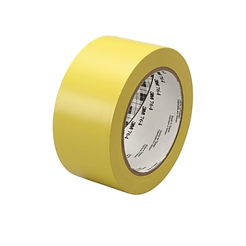 """3M™ 1"""" x 36 yds. General Purpose Solid Vinyl Safety Tape 764, Yellow, 6/Pack"""