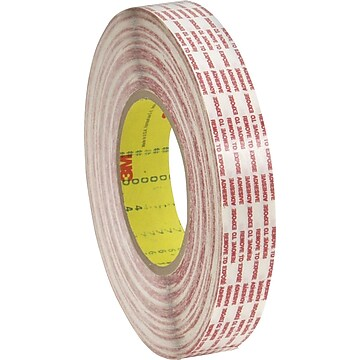 "3M™ 1"" x 540 yds. Double Sided Extended Liner Tape 476XL, Translucent, 6/Case"