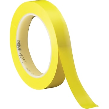 "3M™ 1/2"" x 36 yds. Solid Vinyl Safety Tape 471, Yellow, 3/Pack"