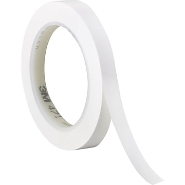"3M™ 1/4"" x 36 yds. Solid Vinyl Safety Tape 471, White, 3/Pack"