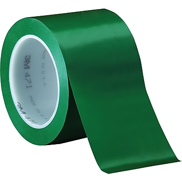 """3M™ 3"""" x 36 yds. Solid Vinyl Safety Tape 471, Green, 3/Pack"""