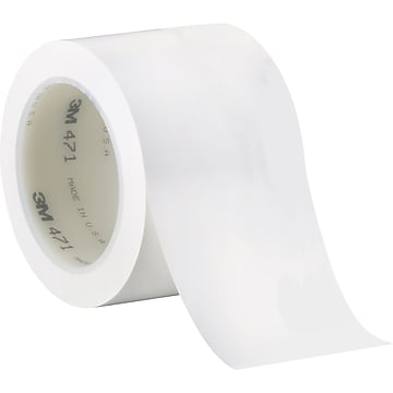 """3M™ 3"""" x 36 yds. Solid Vinyl Safety Tape 471, White, 3/Pack"""