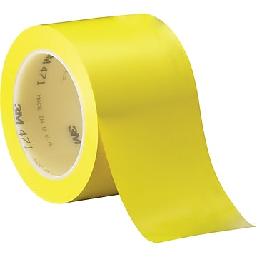 "3M™ 3"" x 36 yds. Solid Vinyl Safety Tape 471, Yellow, 3/Pack"