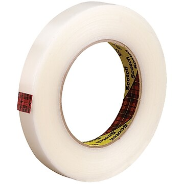 """3M™ Scotch 865 Strapping Tape, 3/4"""" x 60 yds., Clear, 48/Case (71168-8)"""