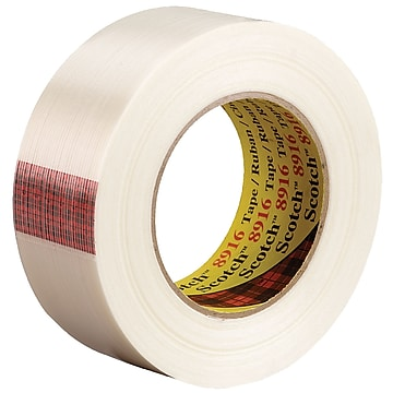 """3M™ Scotch 8916 Strapping Tape, 1 1/2"""" x 60 yds., Clear, 24/Case (73189-1)"""