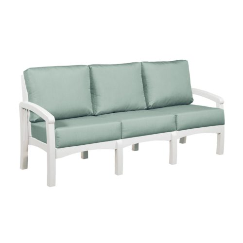 CRP Products Bay Breeze White Frame Sofa with Canvas Spa Cushion