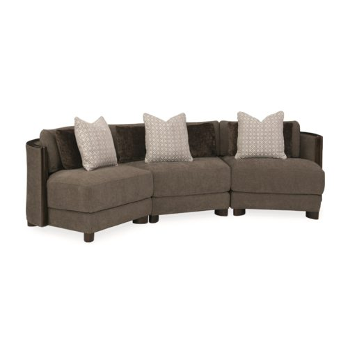 Caracole Modern Streamline Commodore Right Arm Facing Chair Sectional