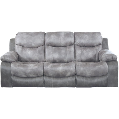 Catnapper Henderson Power Reclining Sofa with Drop Down Table in Steel