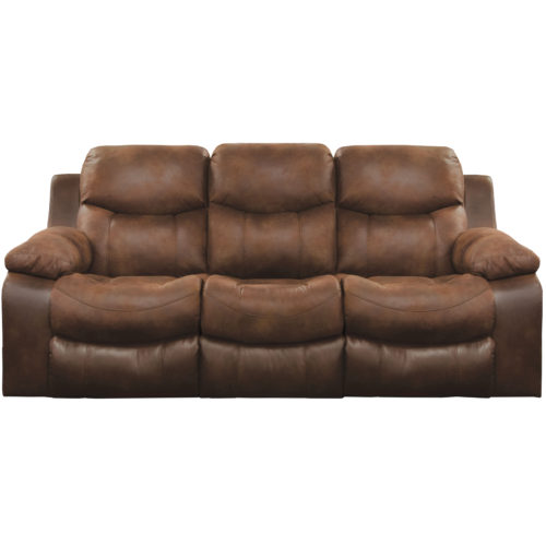 Catnapper Henderson Power Reclining Sofa with Drop Down Table in Sunset