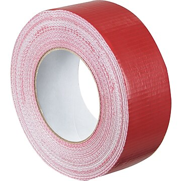 "Colored Duct Tape, Red, 2"" x 60 yards, 3/Pack"