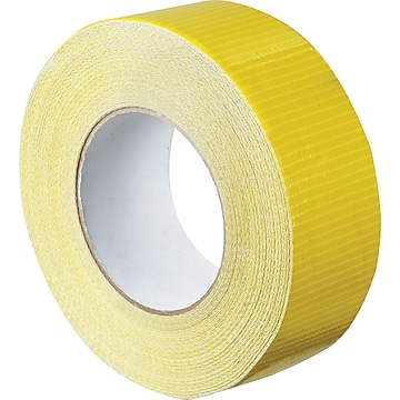 "Colored Duct Tape, Yellow, 2"" x 60 yards, 3/Pack"
