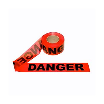 "Cordova 1.5 mil. ""Danger"" Barricade Tape, Color: Red, 12 Rolls/Case (T15211)"