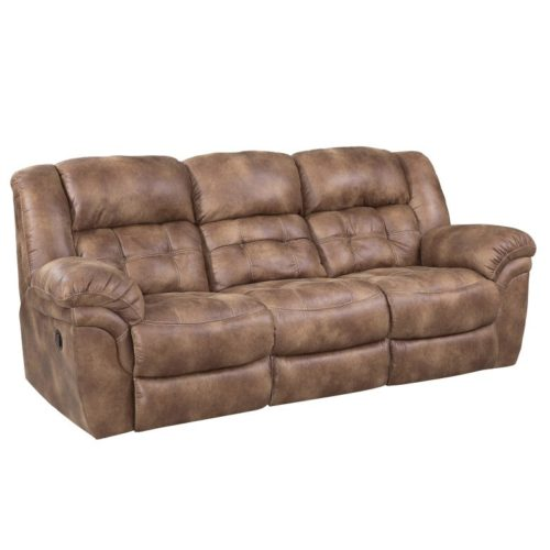 HomeStretch Frontier Reclining Sofa in Almond