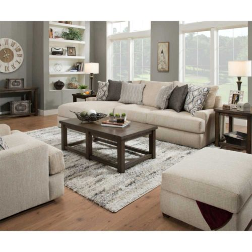 Lane Home Furnishings Luxe Seating Furla Left Arm Facing Chaise Sofa in Barley