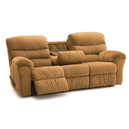 Palliser Fabric Durant Reclining Loveseat with Console