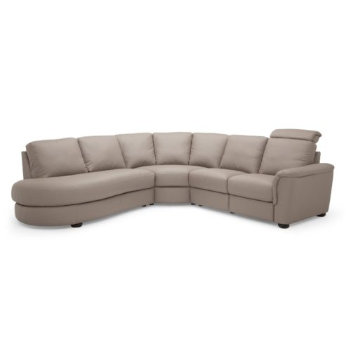Palliser Lyon 5 Seat Sectional with Left Hand Facing Bumper in Dillon Stratus