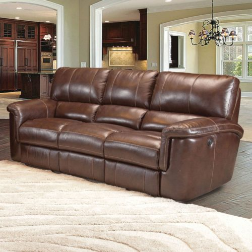 Parker Living Prestige Hitchcock Dual Power Recliner Sofa in Cigar