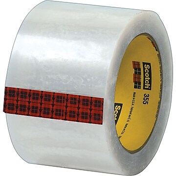 """Scotch #355 Hot Melt Packing Tape, 3""""W x 55 Yards, Clear, 24 Pack (T905355)"""
