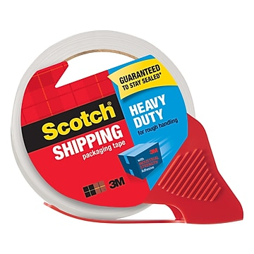 "Scotch Heavy Duty Shipping Packing Tape with Dispenser, 1.88""W x 54.6 Yards, Clear (3850-RD)"
