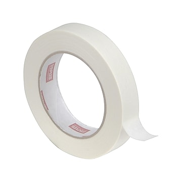 "Staples Masking Tape, 0.94"" x 60 yds., Natural, 4/Pack (468413-CC)"