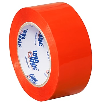 "Tape Logic 2""W x 110 Yards x 2.2 mil Carton Sealing Tape, Orange, Pack of 6 (T90222O6PK)"