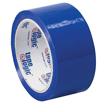 "Tape Logic 2""W x 55 Yards x 2.2 mil Carton Sealing Tape, Blue, Pack of 6 (T90122B6PK)"