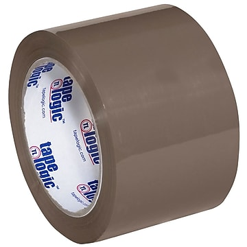 "Tape Logic 3"" x 110 yds. x 1.6 mil #600 Hot Melt Tape, Tan, 24/Carton"