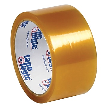 """Tape Logic #53 PVC Natural Rubber Tape, 2.1 Mil, 2"""" x 55 yds., Clear, 6/Case,Size: large"""