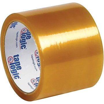 """Tape Logic #53 PVC Natural Rubber Tape, 2.1 Mil, 3"""" x 55 yds., Clear, 24/Case,Size: large"""