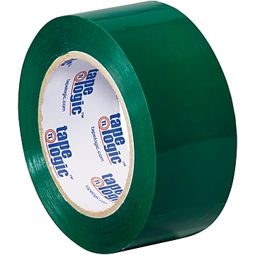 "Tape Logic Carton Sealing Tape, 2.2 Mil, 2"" x 110 yds., Green, 18/Case (T90222G18PK)"